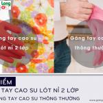 Ưu điểm của găng cao su lót nỉ 2 lớp với găng tay cao su thông thường