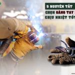 5 quy tắc chọn găng tay bảo hộ chịu nhiệt tốt nhất