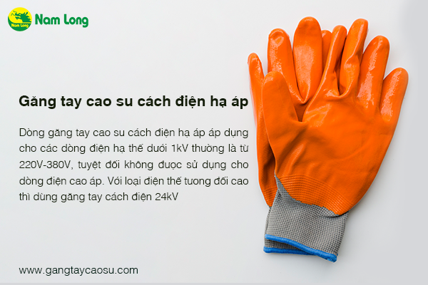 găng tay cao su cách điện hạ áp