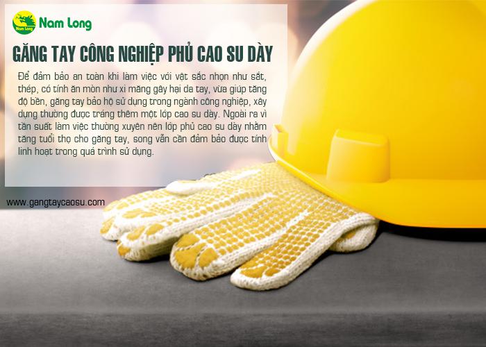 Găng tay công nghiệp loại phủ cao su dày