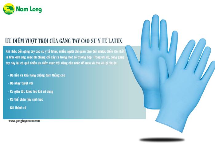 găng tay cao su y tế latex