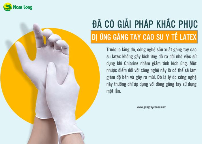 khắc phục dị ứng găng tay cao su y tế