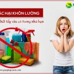 7 tác hại khôn lường từ hóa chất tẩy rửa có trong nhà bạn