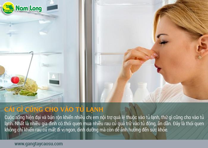 ĐừngCái gì cũng cho vào tủ lạnh