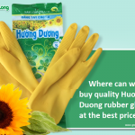 Where can we buy quality Huong Duong rubber gloves at the best price?