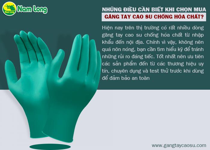 Có bao nhiêu loại găng tay cao su chống hóa chất