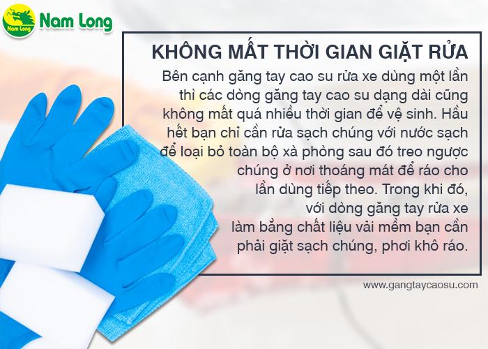 găng tay cao su rửa xe không mất thời gian giặt rửa