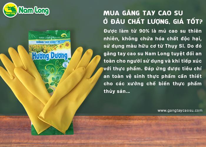 mua găng tay cao su Nam Long có chất lượng tốt