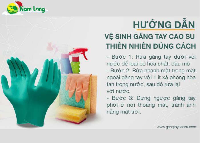 3 bước để vệ sinh và bảo quản găng tay cao su thiên nhiên