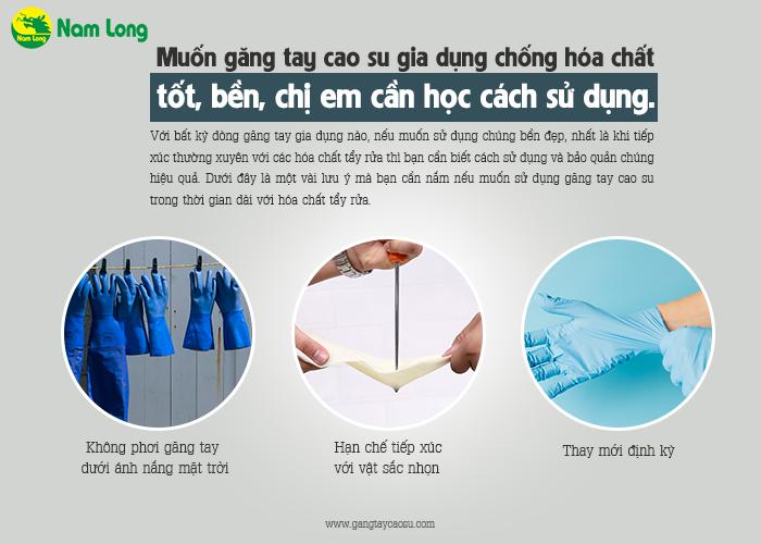 bảo quản găng tay cao su