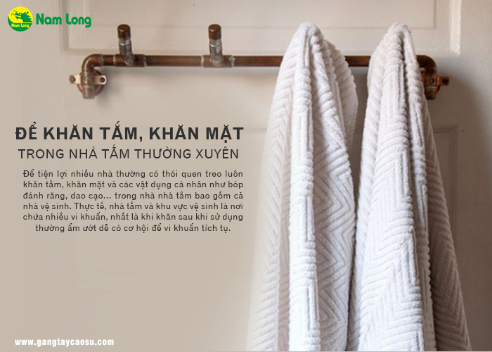 để khăn trong nhà tắm khiến nhà bạn trở nên bừa bộn