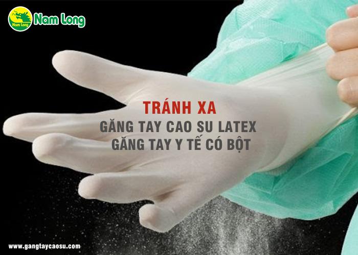 tránh xa găng tay cao su latex nếu không muốn bị ra mồ hôi tay