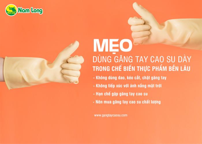 Mẹo dùng găng tay cao su dày dùng trong chế biến thực phẩm bền lâu