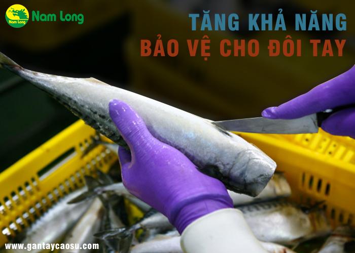 găng tay cao su loại dài làm tăng khả năng bảo vệ tay và nhiều công dụng khác
