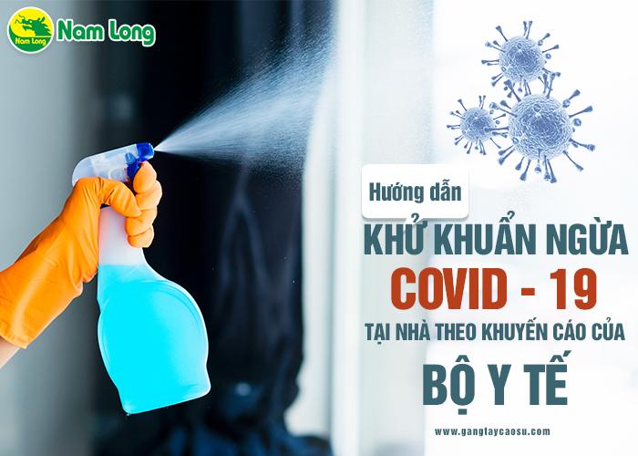 Hướng dẫn khử khuẩn ngừa Covid-19 tại nhà theo khuyến cáo của Bộ Y tế-1