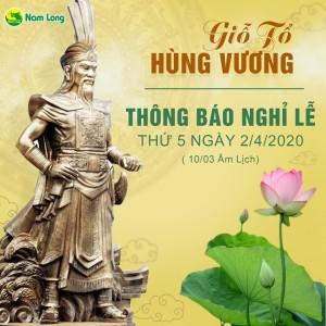 Thông báo nghỉ lễ giỗ tổ hùng vương mùng 10 tháng 3 âm lịch