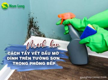 Mách bạn cách tẩy vết dầu mỡ dính trên tường sơn nhà bếp (1)