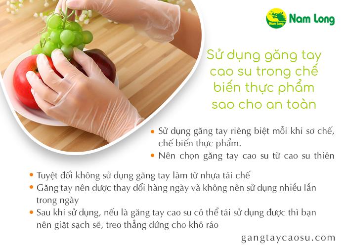 Sử dụng găng tay cao su trong chế biến thực phẩm sao cho an toàn (2)