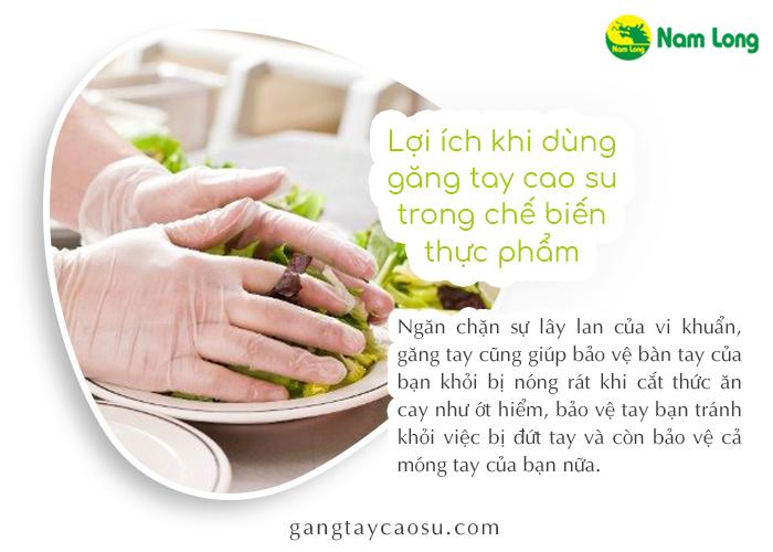 Sử dụng găng tay cao su trong chế biến thực phẩm sao cho an toàn (3)