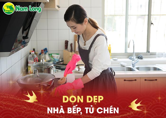 Dọn dẹp nhà bếp, tủ chén - 03