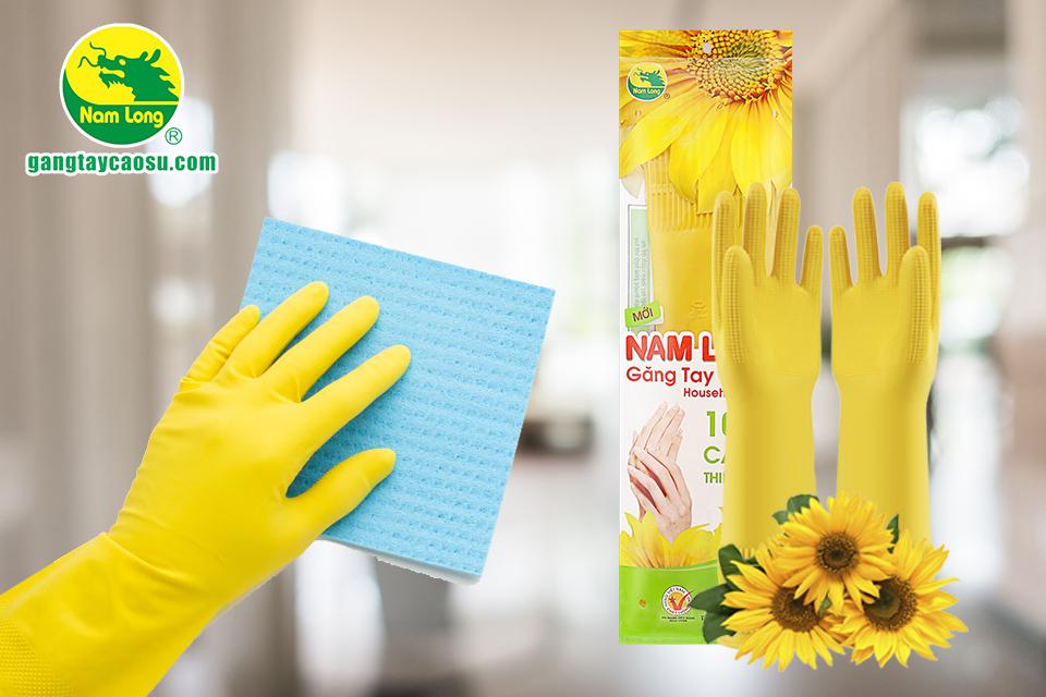 Găng tay cao su Nam Long có độ bền tốt, khả năng chống đâm thủng cao